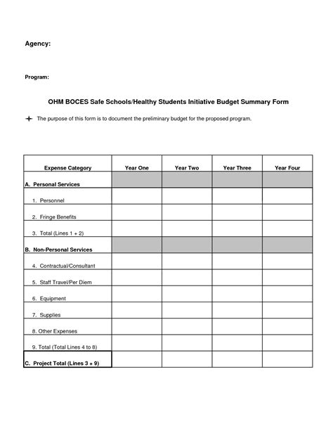 best plank form 8 best images of blank budget template printable blank