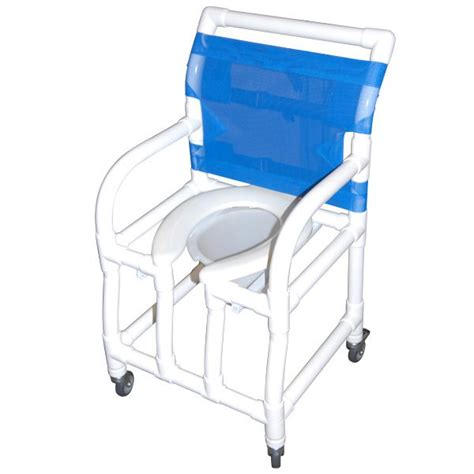 18 wide shower commode chair with elongated open front