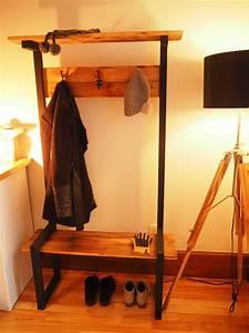Industrial, Coat, Rack, Bench, Hall, Tree