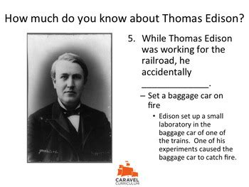 Thomas Edison Fun Facts Quiz Powerpoint Caravel