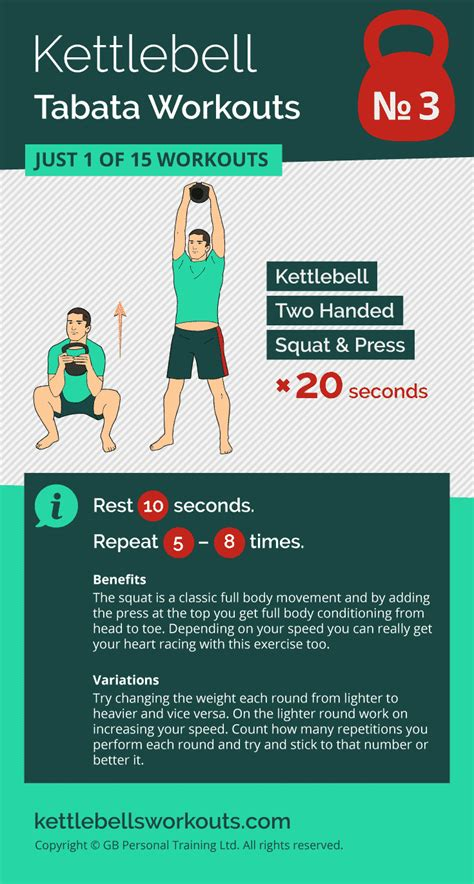 tabata workout kettlebell workouts training exercises burn cardio kettlebellsworkouts fat squat press body exercise beginner hiit weave bob fitness fuer