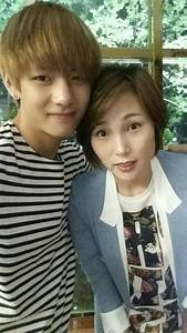 BTS V With His Mother She39s So Pretty And Looks Great