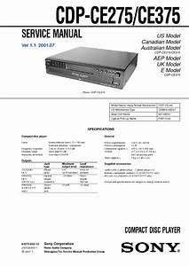 Cdp-ce375 Manuals