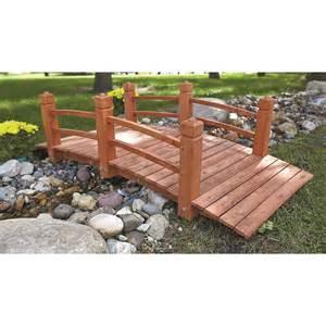 castlecreek wooden garden bridge 676466 decorative
