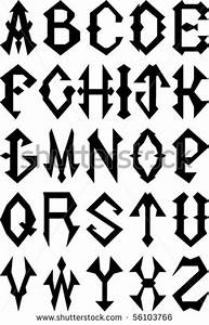 8 Best Images of Gothic Style Alphabet - Lettering Styles ...