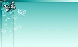 Blue butterfly floral design Powerpoint Templates - Blue ...