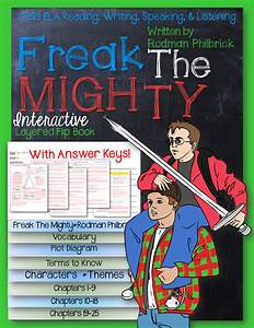 Freak The Mighty Novel Study Literature Guide Flip Book