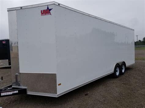 85x24 Enclosed Cargo Trailer 5200 Lb Axles Car Hauler V