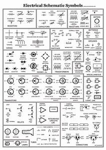 Unique Electronic Blueprint Symbols  Diagram