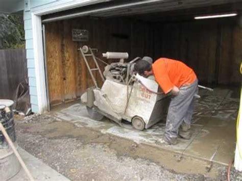 garage floor  cut youtube