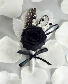 mens boutonniere chic origami boutonniere wedding boutonniere black
