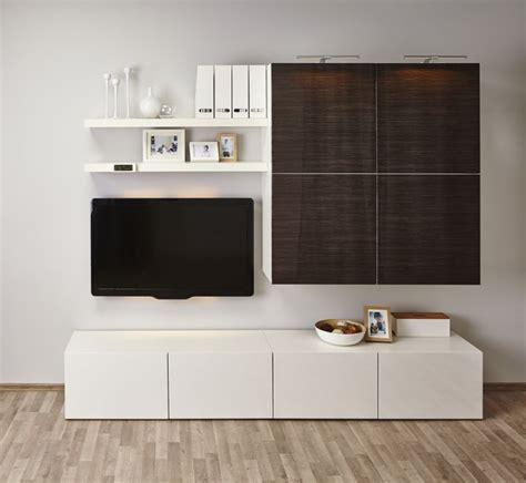 Ikea Besta Regal Mit Tür by Ikea Wohnwand Selber Zusammenstellen Nazarm
