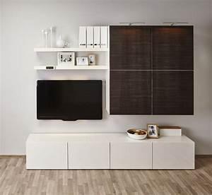 Ikea Wohnzimmerschrank Weiß : ikea besta regal 25 ideen mit dem aufbewahrungssystem ~ Bigdaddyawards.com Haus und Dekorationen