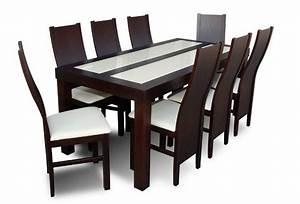 Table salle a manger hetre avec 8 chaises tables salle a for Meuble salle À manger avec chaises de table À manger pas cher