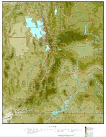 Elevation Map Utah