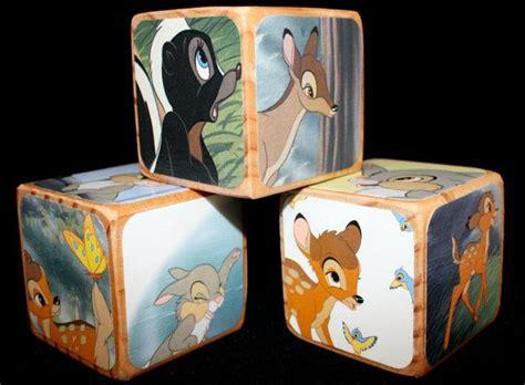 childrens wooden blocks bambi baby shower gift