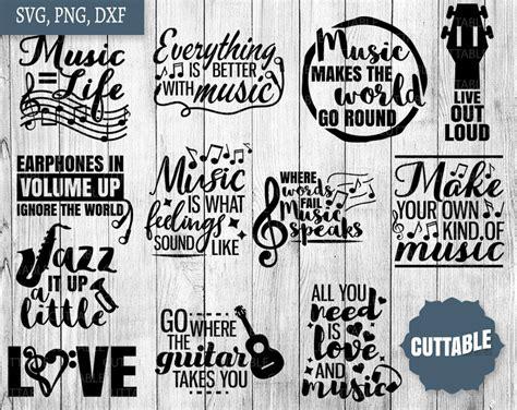 musical svg bundle  quote bundle cut files