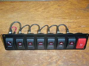 Switch Panel Marine Boat Carling V1d1 8 Switches Wired Psc