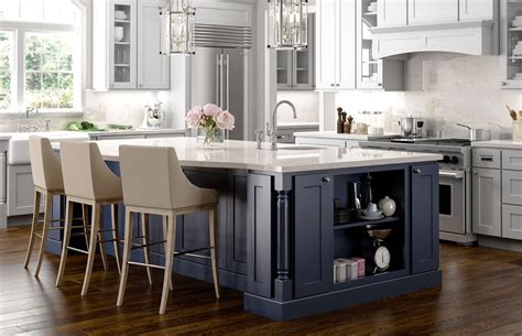 kitchens with different colored islands navy www jsicabinetry 8789