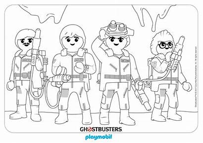 Playmobil Coloring Pages Ghostbusters Ghost Busters Sheet