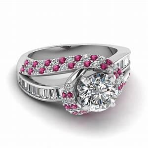 twirl embellished ring fascinating diamonds With pink stone wedding rings