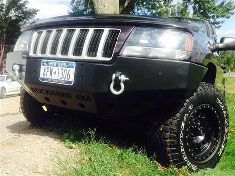 jeep grand cherokee kc lights rock hard 4x4 patriot series front bumper for jeep grand