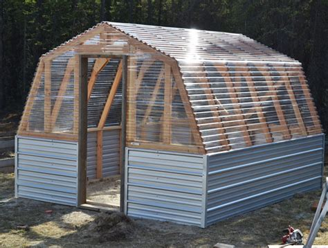 white barn greenhouse diy projects