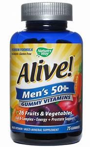 Alive Men U0026 39 S 50 Plus Gummy Multi Vitamin 75 Caps   12 19ea From Nature U0026 39 S Way