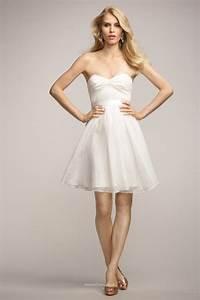 Strapless Twist Neckline Knee Length Short Bridesmaid