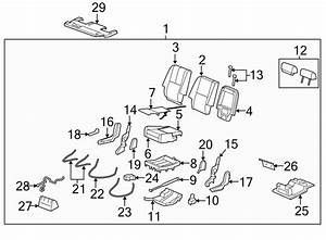 Chevrolet Tahoe Seat Frame  Side  Right  Row