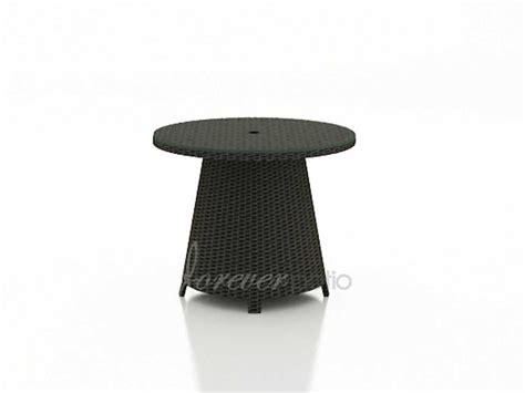 table with umbrella hole forever patio barbados wicker 32 round coffee table with