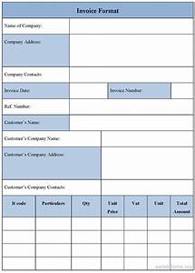 invoice template form sample forms With invoice form template