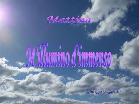 Mi Illumino Di Immenso Poesia by Il Naufragar M 232 Dolce In Questo Mare Ppt Scaricare