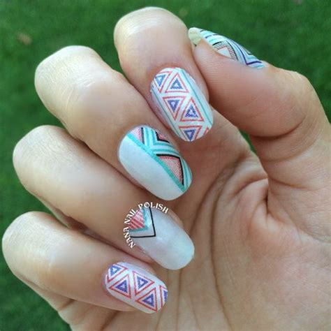 pretty tribal nail art designs noted list