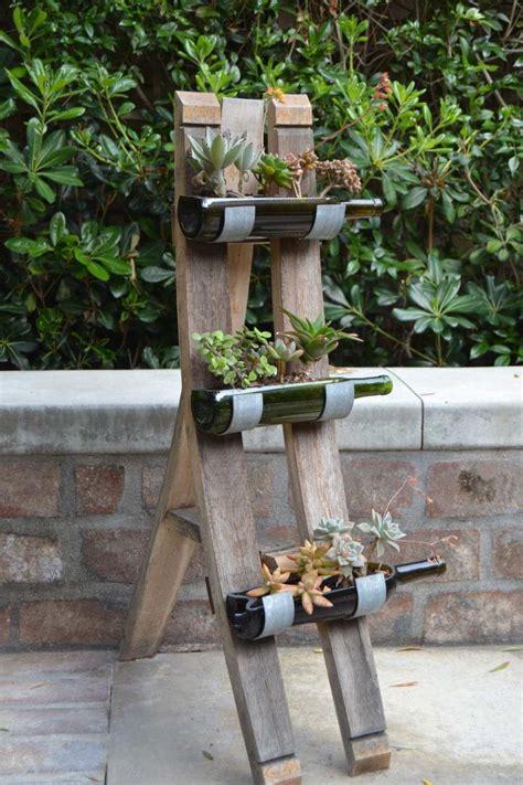 diy wine bottle garden decor ideas