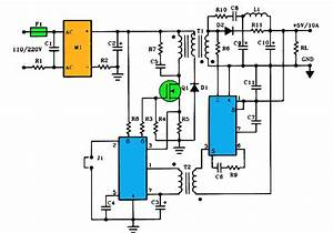 5v 10a Current Output Switching Power Supply