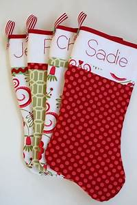 craftaholics anonymousr 19 ways to personalize a stocking With fabric letters for stockings