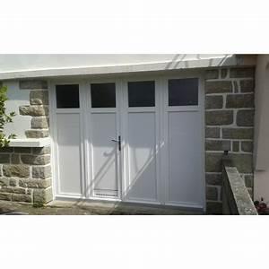 Porte De Garage 4 Vantaux : porte de garage battante et portillon int gr ouverture ~ Dallasstarsshop.com Idées de Décoration