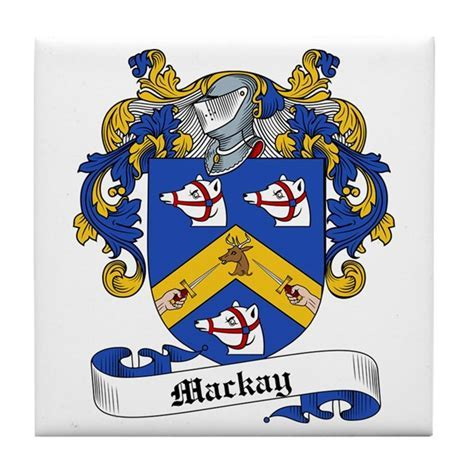 Mackay Family Crest Tile Coaster by familycoats