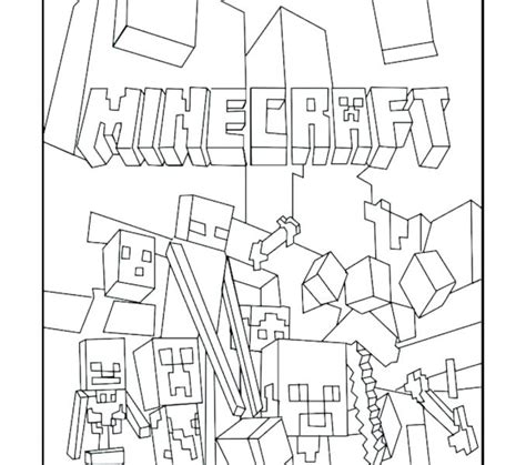 Minecraft Coloring Pages Zombie Pigman Printable Coloring