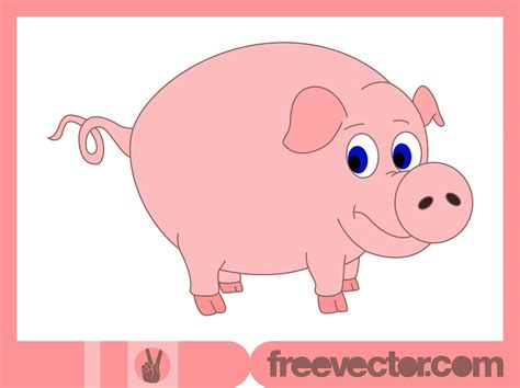 Cartoon Pig Vector Art & Graphics