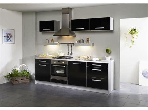cuisine noir pas cher meuble de cuisine noir laque