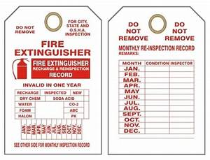 monthly fire extinguisher inspection tags With fire extinguisher inspection tag template
