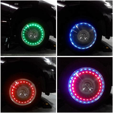 Wheel Lights by Solar Decorative Car Motorcycle Wheel Light Set Of 2 Lights