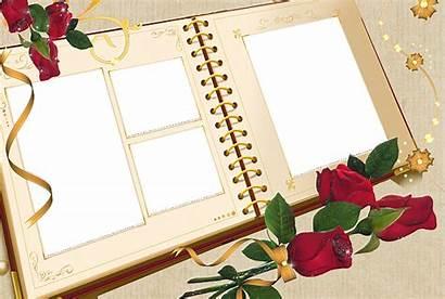 Album Frame Frames Transparent Roses Pages Digital