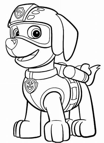 Patrol Paw Coloring Pages Chase Printable Sheets