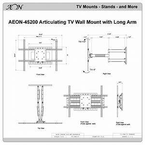 Full Motion Articulating Tv Wall Mount With Long Arm Aeon
