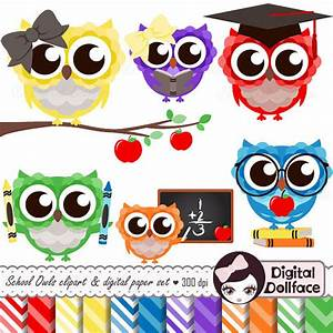 Items similar to School Clipart, Primary Color Digital ...