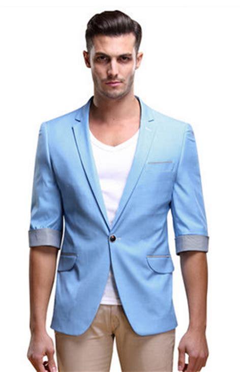 mens light blue blazer chic light blue summer sleeve blazer with plaid