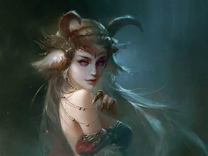 Demon Horns Fantasy Woman Hair